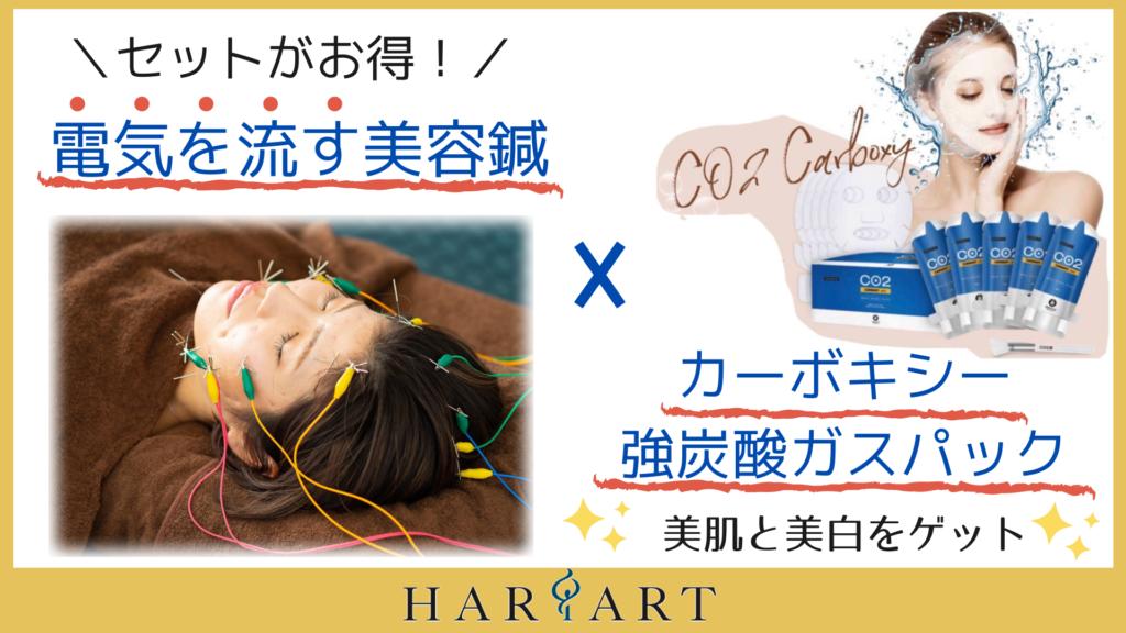電気を流す美容鍼とカーボキシー強炭酸ガスパックセット