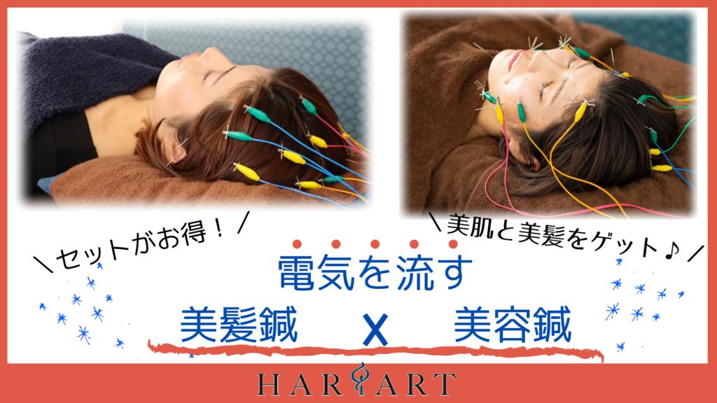 電気を流す美容鍼✖電気を流す美髪鍼